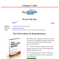 Word of the Day, February 7, 2019