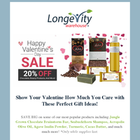 Love is in the air 20% Off - Annual Valentines Day Sale