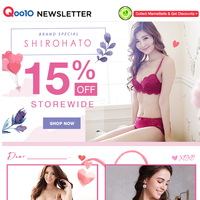 Valentines' Special: SHIROHATO 15% Off Storewide!