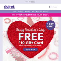 Get your FREE gift card now | Happy Valentines Day!