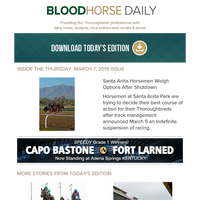 BloodHorse Daily for Thursday, March 7
