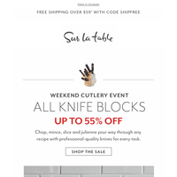 Block Party! All Knife Block Sets up to 55% Off