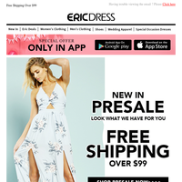 Women's clothing Hot Presale | Free Shipping Over $99