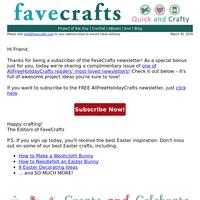 Sign Up for AllFreeHolidayCrafts
