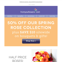 Today Only: Get 50% Off Your Rose Floral Order