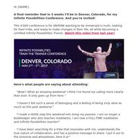 FINAL reminder - I'll be in Denver in 3 weeks!