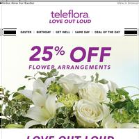 25% Off Teleflora Florist Favorites