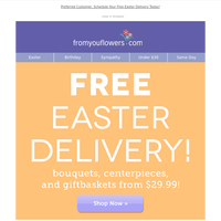 Hop to it 🐰! FREE Delivery Starts Now