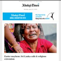 Easter mayhem: Sri Lanka calls it religious extremism; Dubai expat dies in Sri Lanka blasts; family shattered; UAE, Saudi Arabia to provide $3 billion assistance to Sudan