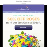 Go classic: 50% Off Roses!