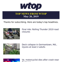 Top News From Wtop Sunday May 26 2019 For Wtop com