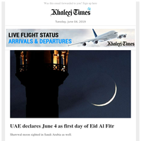 Eid Mubarak! Crescent moon sighted; Sheikh Mohammed greets nation on Eid; 30 die as Sudan army storms protest camp