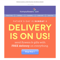 Exclusive: Free Delivery for Father's Day! $14.99 Value