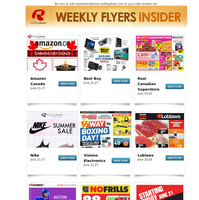New Flyers! Summer Sale from Nike, Canada Day Deals from Amazon, No Frills 88s Sale, Hot Summer Tech from Best Buy, 1/2 Way to Boxing Day at Visions + More