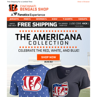 Celebrate Independence Day in Bengals Stars & Stripes