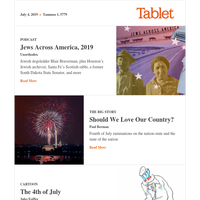 Independence Day Edition: Unorthodox goes from sea to shining sea; Paul Berman on Jill Lepore's America; Jules Feiffer on Uncle Sam