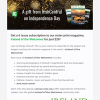 A gift from IrishCentral on 🇺🇸 Independence Day
