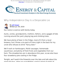 Why Independence Day Is a Despicable Lie