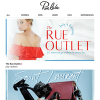 🎇 THE 🎇 RUE 🎆 OUTLET 🎆 Bring out the sparklers.