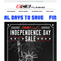 Final Days To Save - Independence Day Sale