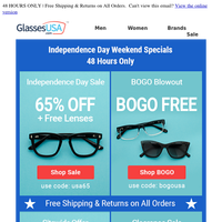 👉 Open ASAP! Invite pending: Independence Day Weekend Specials