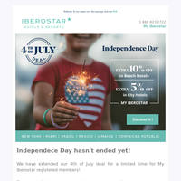 Extended Independence Day Deals: Up to 55% off!