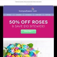 50% Off Roses + NEW Emoji Vases 😍