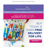 🎂Invite ONLY: Earn FREE Delivery for Life