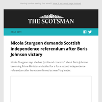 Nicola Sturgeon demands Scottish independence referendum after Boris Johnson victory