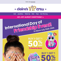 Celebrate your BFF for International Day of Friendship!