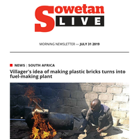 Villager's idea of making plastic bricks turns into fuel-making plant   Mkhwebane has 'absolutely no links to the Guptas' - Spokesperson
