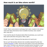 How much is an idea alone worth?