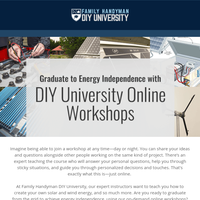 Really? DIY University has Energy Independence courses!