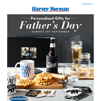 Personalised gifts for Father's Day!