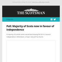 Poll: Majority of Scots back independence