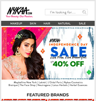 Live Now: Nykaa's Independence Day Sale 🎉