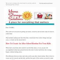 How To Create An After School Routine For Your Kids, Idea For Decluttering Gift Bags, and more