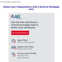 Retain your independence with a Reverse Mortgage loan