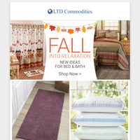 Fall Inspiration For Bed & Bath