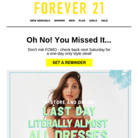 OH NO, LAST DAY 30% OFF!