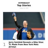 Jerry Seinfeld Reveals a Nike Shox TL Made From New York Mets Jerseys