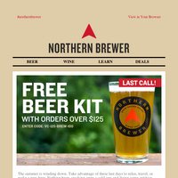 LAST CALL: Grab Your FREE Beer Recipe Kit Now!