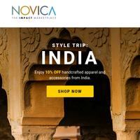 India Inspiration: Shop Unique Apparel and Accessories!