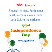 Via.com | Ebixcash wishes you a Happy Independence Day.