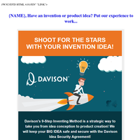 {NAME}, Have an invention or product idea? Put our experience to work...