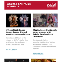 Swiggy celebrates 5th anniversary with Restaurant Partners; Marketing campaign of Mission Mangal & Once Upon a Time in Hollywood; McDonalds' Independence Day Campaign | Social Media Newsletter