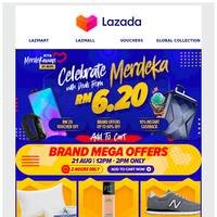 21 Aug: Celebrate Merdeka With Deals From RM6.20 only!