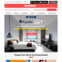 Getaway idea? How about Expedia up to 9.5% Upsized Cashback!