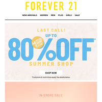 In-Store Only! 70% Off Sale!