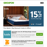 EXCLUSIVE CODE: 15% Off Sleep Range at Koala Mattress 🐨 | EXCLUSIVE CODE for $5 shipping at Boohoo! 👗 | eBay 20% off CODE for Father's Day 👨 + more!